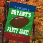Personalized Football Party Zone House Flags