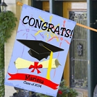 Class of 2015 Congrats Personalized Graduation House Flags