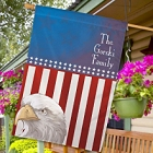 Personalized American Eagle Patriotic House Flags
