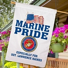Personalized Marines Pride House Flags