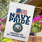Personalized Navy Pride House Flag