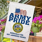 Army Pride Personalized House Flags