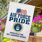 Personalized Air Force Pride House Flags