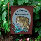 Bass Fishing Personalized Welcome Garden Flags