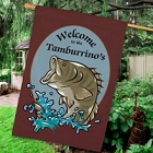 Bass Fishing Personalized House Flags