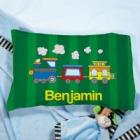 Personalized Choo Choo Train Youth Pillow