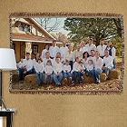 Family Reunion Photo Tapestry Throw Blanket