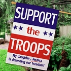 Personalized Support Our Troops House Flags