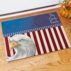 American Eagle Personalized Patriotic Doormat