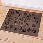 Personalized Bearfeet Welcome Cabin Doormat