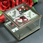 Couples Engraved Glass Jewelry Box