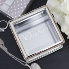 Expressions Engraved Glass Jewelry Box