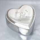Engraved Couples Silver Heart Jewelry Box