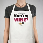 Where's My Wine Personalized Apron