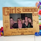 Girls Night Out Engraved Wood Bachelorette Party Picture Frame