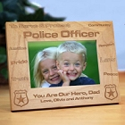 Personalized Police Officer Wood Picture Frames