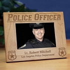 Engraved Police Officer Wood Picture Frames