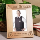 Vertical Engraved Police Officer Wood Picture Frames