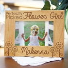 Perfectly Picked Flower Girl Personalized Wood Picture Frames