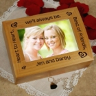 Heart to Heart Best Friends Personalized Photo Keepsake Box
