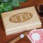 Personalized Initials Valet Keepsake Box