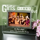 Girls Night Out Engraved Glass Bachelorette Party Picture Frame