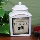 Personalized In Loving Memory Ceramic Pet Urns