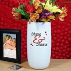 Personalized Love Couples Ceramic Vase
