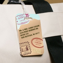 Custom Printed Personalized Travel Luggage Tags