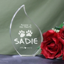 Forever In Our Hearts Engraved Pet Memorial Tear Keepsakes