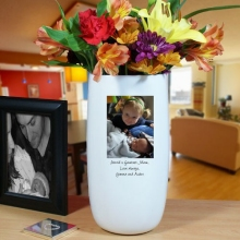 Personalized Family Photo Ceramic Vase