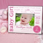 We Made A Wish Personalized New Baby Girl Printed Picture Frames