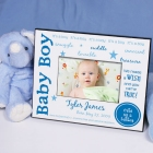 We Made A Wish Personalized New Baby Boy Printed Picture Frames