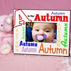 Colorful Alphabet Name Personalized Baby Picture Frames