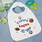 Future All-Star Custom Printed Baby Bibs