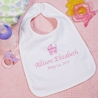 New Baby Girl Personalized Baby Carriage Baby Bibs