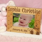 New Baby Personalized Wood Picture Frames