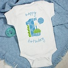 Baby's 1st Birthday Personalized Boys Baby Onesies