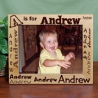 8 x 10 Child's Name Personalized Wood Picture Frames