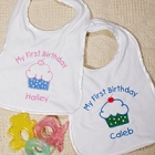 Personalized My First Birthday Baby Bibs