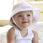 Embroidered Baby Name Sun Hat