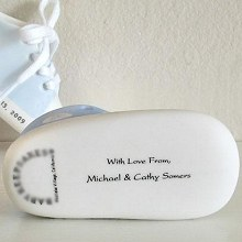 Personalized Porcelain Baby Booties