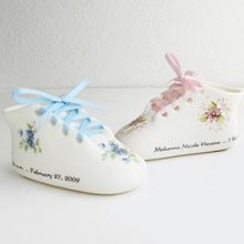 Personalized Porcelain Baby Bootie