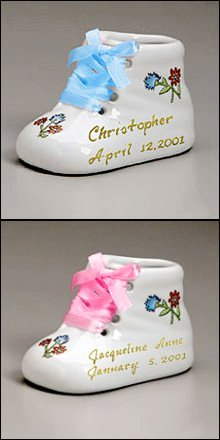 Personalized Ceramic Baby Booties