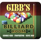 Personalized Billiards Bar Coaster Set