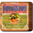 Fruit Company Personalized Drink Coaster Set