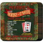 House of Cards Personalized Coaster Set