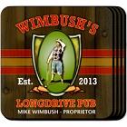 Personalized Longdrive Pub Coaster Set