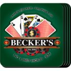 Personalized Poker Coaster Set