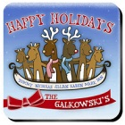Reindeer Family Personalized Coaster Set
